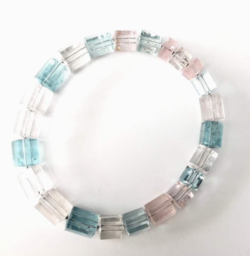Aquamarine fac. Necklace