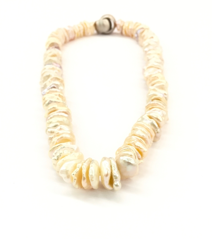 Keshi Pearl Necklace: Keshi Freshwater Pearl Necklace